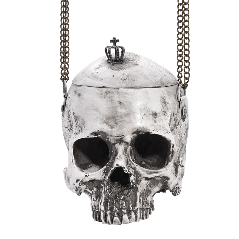 bag gothic purse rock grey skull bags halloween gothic bag 3D simulation skull handbag men women punk purses funny pocket unisex недорго, оригинальная цена