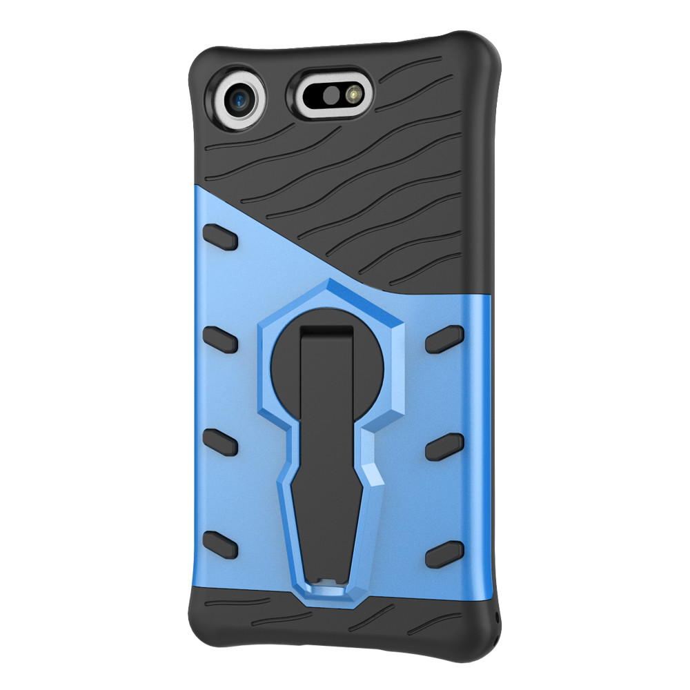 mobile cell phone Sniper Hybrid Robot Armor ShockProof 360 Kickstand Back Soft Case Cover For sony Xperia XZ1 Compact in Fitted Cases from Cellphones Telecommunications