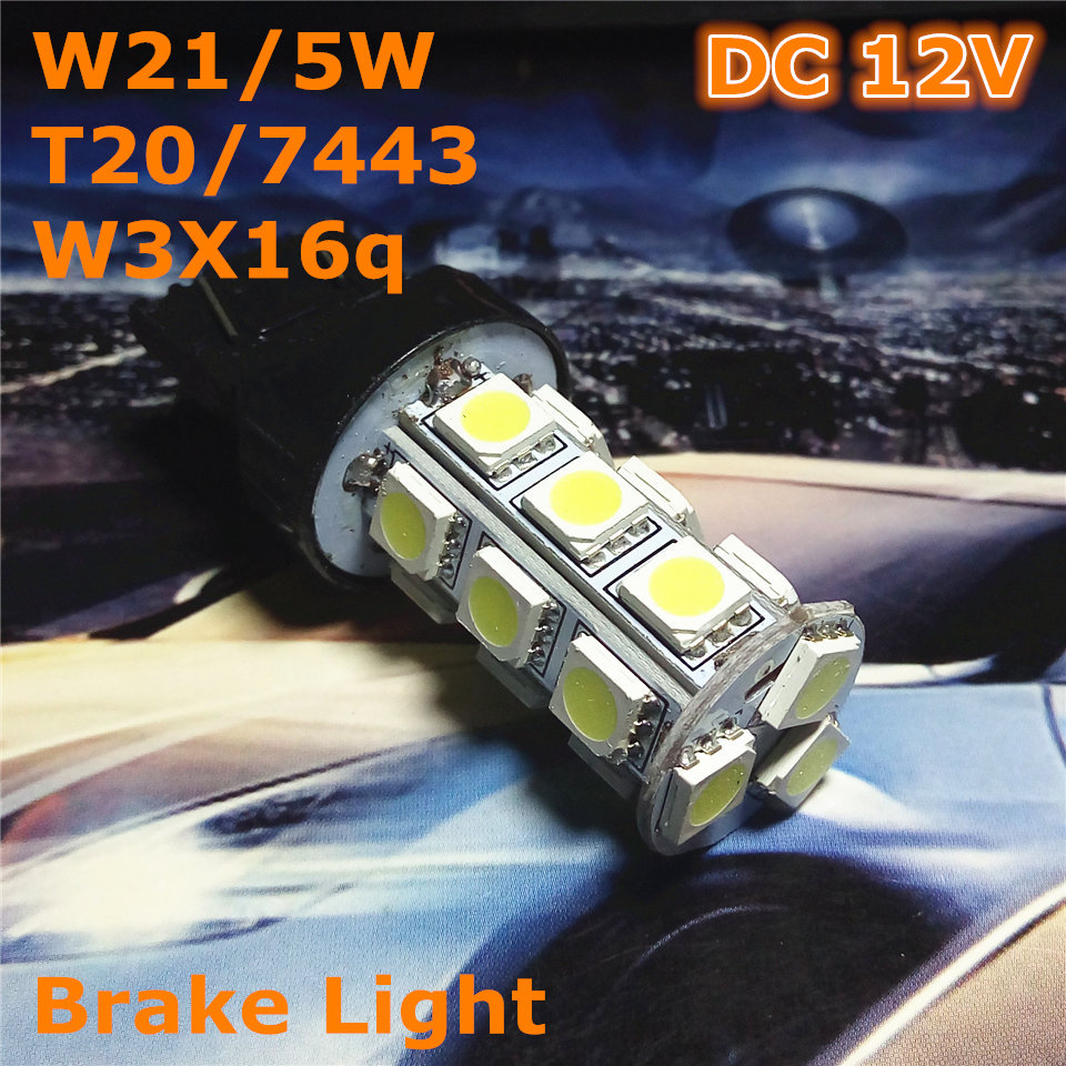 12V LED (18 * 5050SMD) Lâmpada bulbo do carro W21 / 5W T20 W3X16q / - Faróis do carro - Foto 1