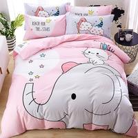 hot sales 3/4pcs bus kids/children 3d bedding set full queen king size 100%cotton duvet cover+flat/fitted sheet+pillowcases sets