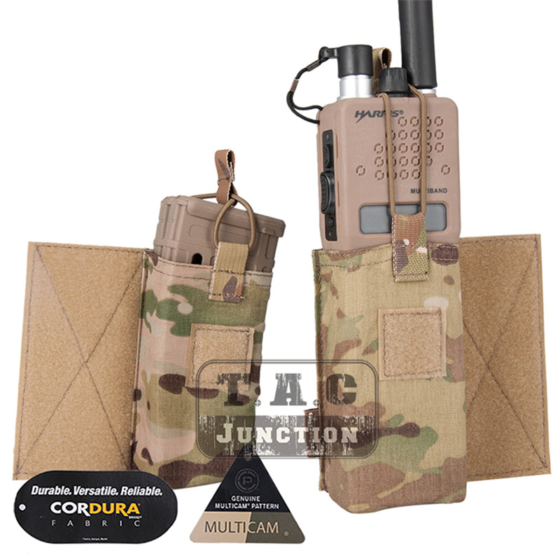 Image 2 - Emerson Tactical MBITR Radio Pouch and  M4 Magazine Pouch Combo with Hook & Loop Multicam-in Pouches from Sports & Entertainment