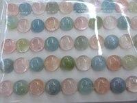 High Quality 50pcs 4 12mm Genuine Morgnite Lapis Lazulie Kyanite Malachite Rose Quartz Aquamarine Gemstone Cabochon