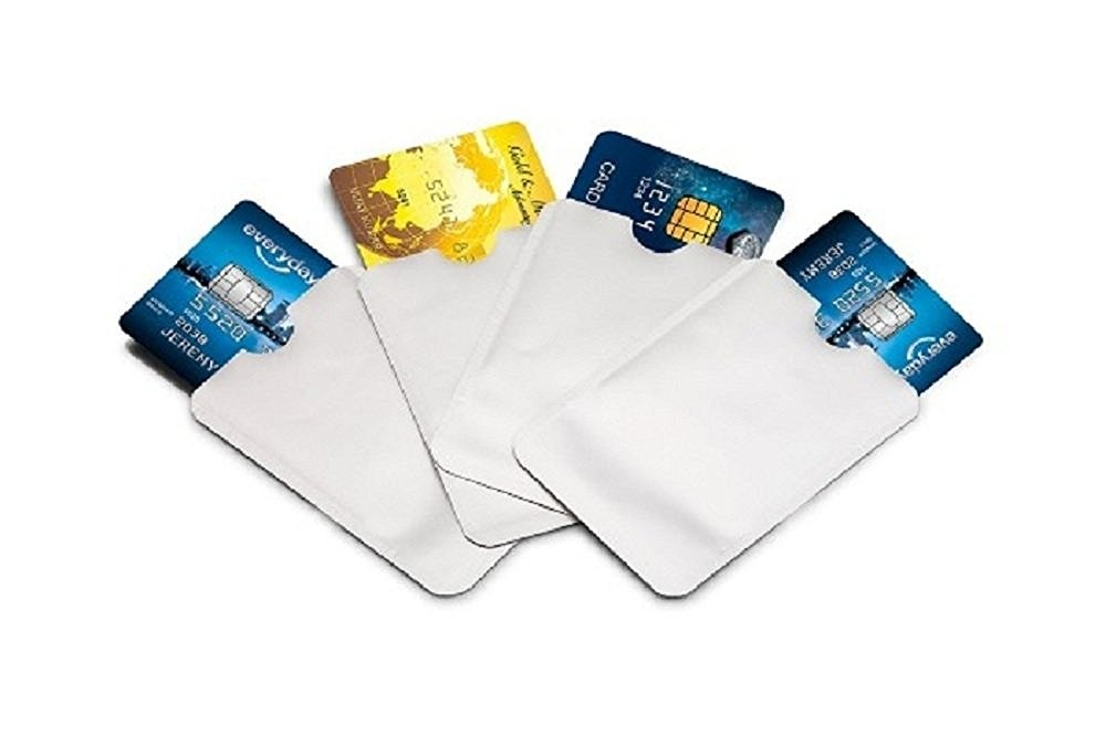RFID Blocking Aluminum Sleeves storage bag sleeve card protected ID cards Aluminium sleeve blank RFID blocking