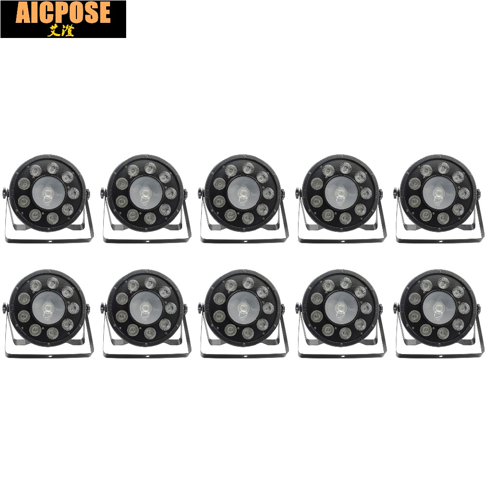 10pcs/lots 9x10W+30w Flat LED Par Lights  9*10w+30w RGB 3IN1 PAR DMX512 control disco lights professional stage DJ equipment|dj equipment|disco light|led par light - title=