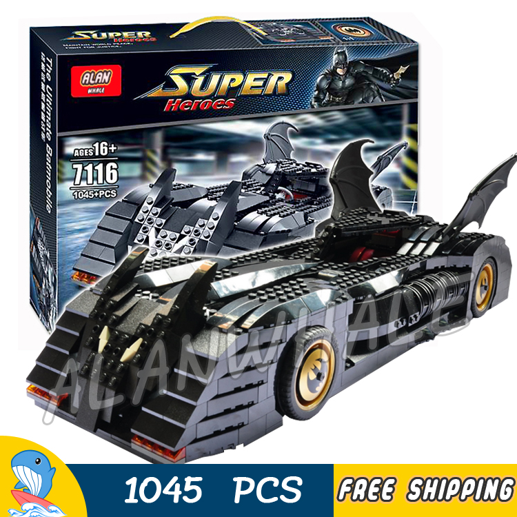 1045pcs Super Heroes Batman Batmobile Ultimate Collectors Edition 7116 Model Building Block Toys Bricks Compatible With lego 1496pcs new super heroes batman the ultimate batmobile set 07077 diy model building blocks toys brick moive compatible with lego