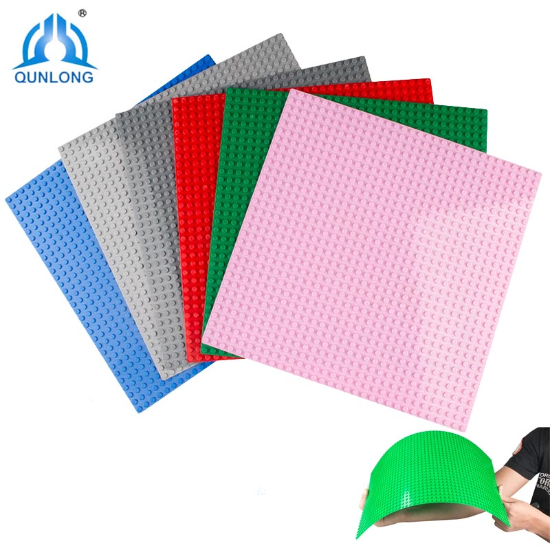 Qunlong 32*32 Dots Base Plate For Small Bricks Baseplate Board Building Blocks Compatible Legoings DIY Toys For Children big bricks building blocks base plate 51 25 5cm 32 16 dots baseplate diy bricks toy compatible with major brand blocks