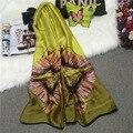 2016 New Women Silk Cotton Soft Fashion Shawl Wrap Long Scarf Stole Retro Print Butterfly Print Beach Scarf 90cm*180cm