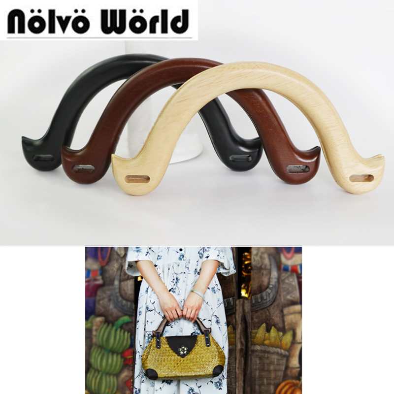 5 pairs=10 pieces 22*11cm Wind Angle Wood handle,Solid Wood 3 colors popular handles for Handmade bags,Wooden Purse Bag Handles цены