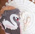 Corona Cisne Sawddling Manta de Bebé De Punto De Algodón Grueso de Dibujos Animados de Doble cara Mantas de Bebé Recién Nacido ropa de Cama de Bebé accesorios de Fotografía