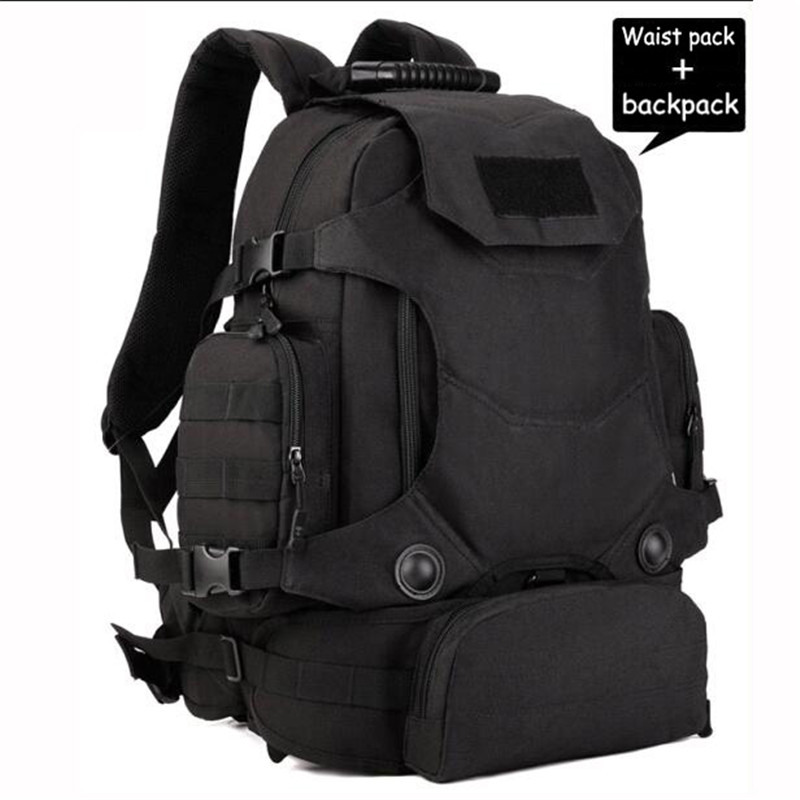 HOT new military backpack male 40 l waterproof bag travel bags multifunctional 14 inch laptop wearproof