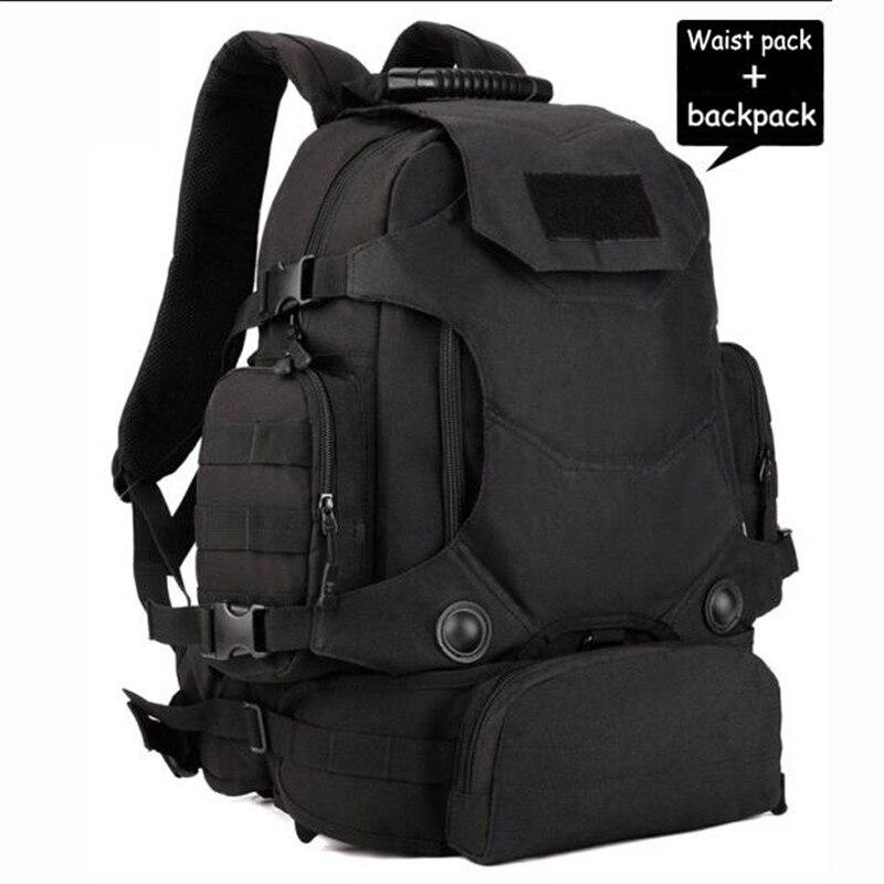 CHAUDE nouveau sac à dos militaire mâle 40 l sac étanche sacs de voyage multifonctionnel 14 pouce ordinateur portable résistant à l'usure Meilleur-vente fille sac