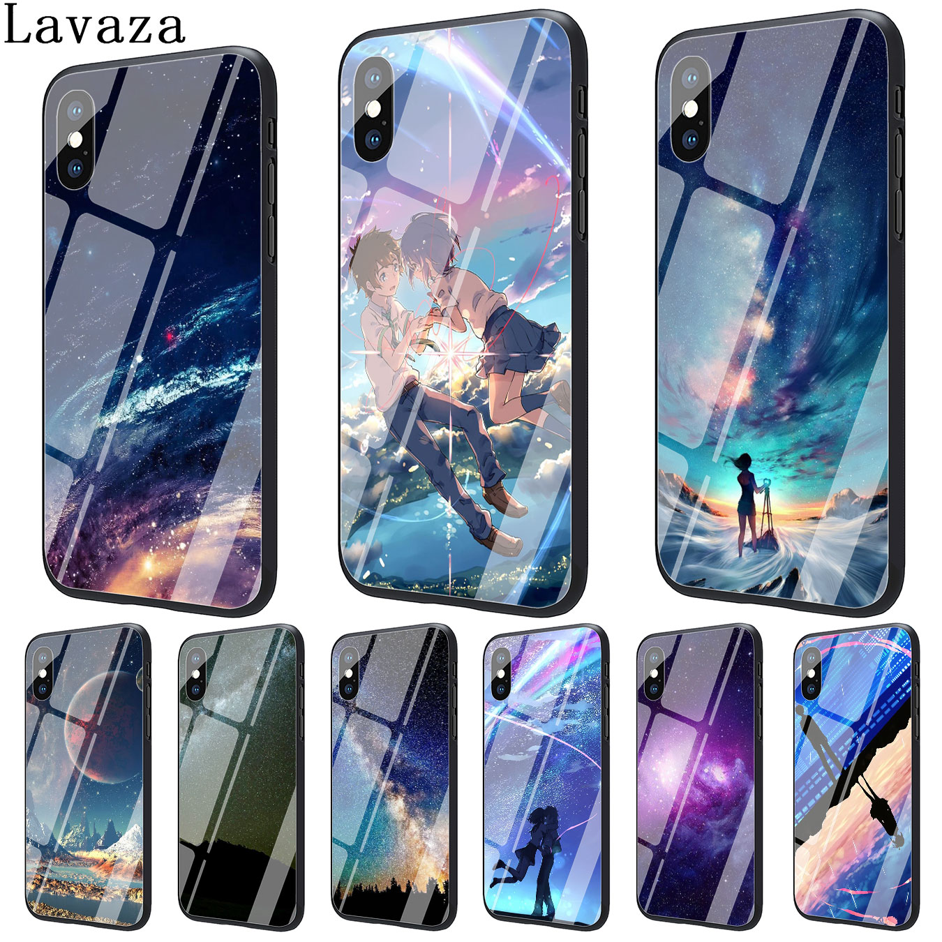 Intellective Lavaza Space Night Sky Moon Square Tempered Glass Phone Cover Case For Apple Iphone Xr Xs Max X 8 7 6 6s Plus 5 5s Se Cases Half-wrapped Case Cellphones & Telecommunications