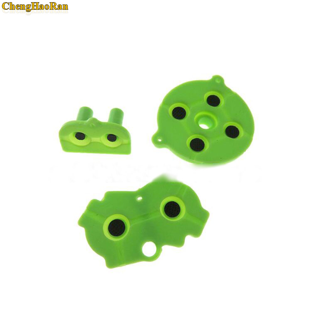 Image 3 - 120sets Blue Red Green For Game Boy GBA Advance Button Silicone Rubber Pad Conductive Contacts AB Select Start D pad-in Replacement Parts & Accessories from Consumer Electronics