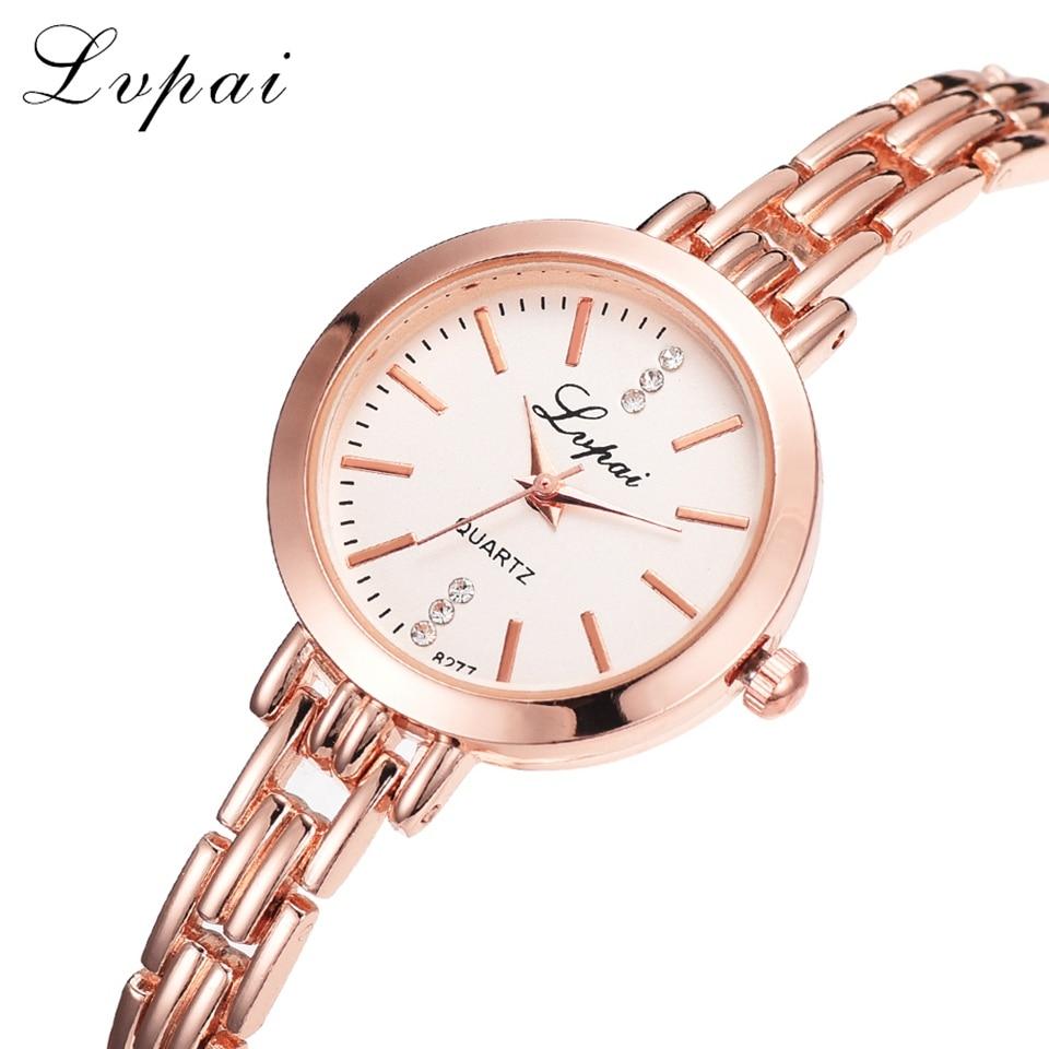Lvpai Brand Gold Plated Bracelet Watches Women Luxury Dress Fashion Sport Wristwatch Ladies Dress Business Quartz Watch