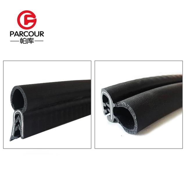 Alta qualidade 1m epdm e isolamento de ruído de aço de vedação de borracha tira placa de aço auto acessório abrigo do ruído do vento