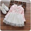 Primavera 2017 ropa de bebé para niño recién nacido de los bebés de manga larga de algodón marca dress baby princess birthday party tutu vestidos