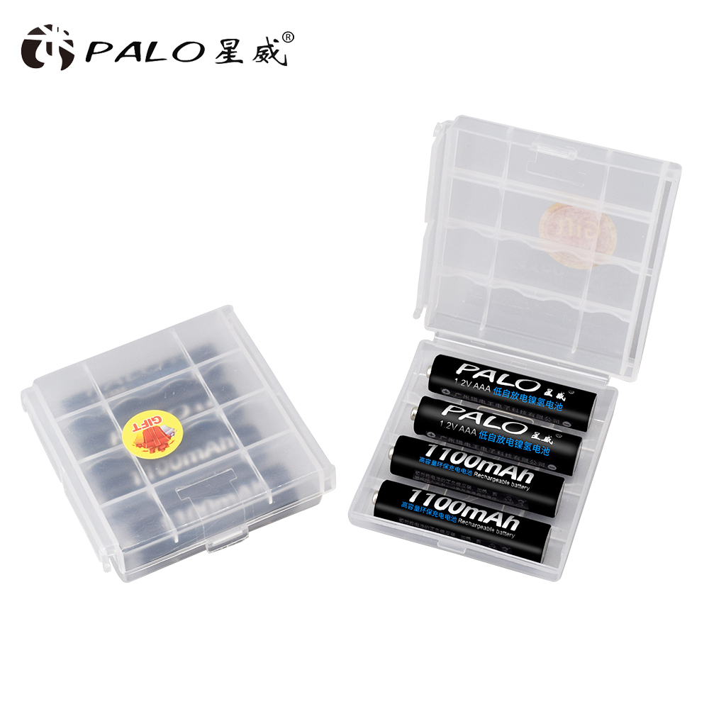 PALO 8 slots smart battery charger for AA/AAA rechargeable battery+8pcs AAA1100 mAh NiMH rechargeable batteries