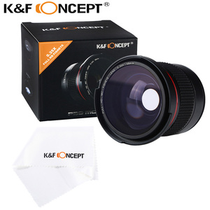 K&F Concept 58MM 0.35X Ultra Clear Blue Film Coated Fish Eye Lens + Microfiber Cloth for Canon Nikon DSLR Cameras free shipping