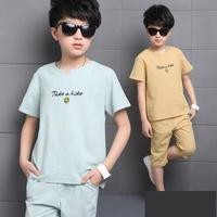 2018 Summer Children Clothing Sportswear Short Sleeve Kids Clothes Boys Outfits Toddler Boys Clothes Sets T