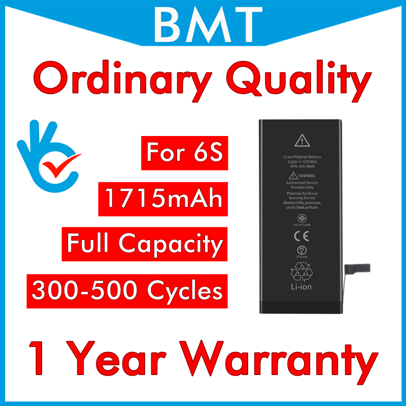 Ordinary Quality-Battery iPhone 6s Zero-Cycle-Replacement Original for UPS 50pcs/Lot