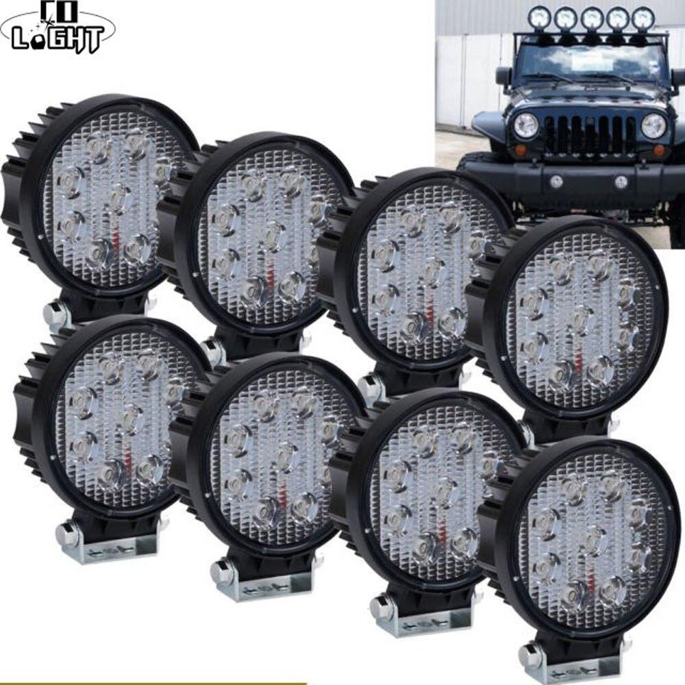 CO LIGHT 5D 4.3inch Offroad 27W LED Light Bar Spot Floodlight For Niva ATV Boat SUV 4WD 4x4 Truck Tractor LED Work Light 12V 24V