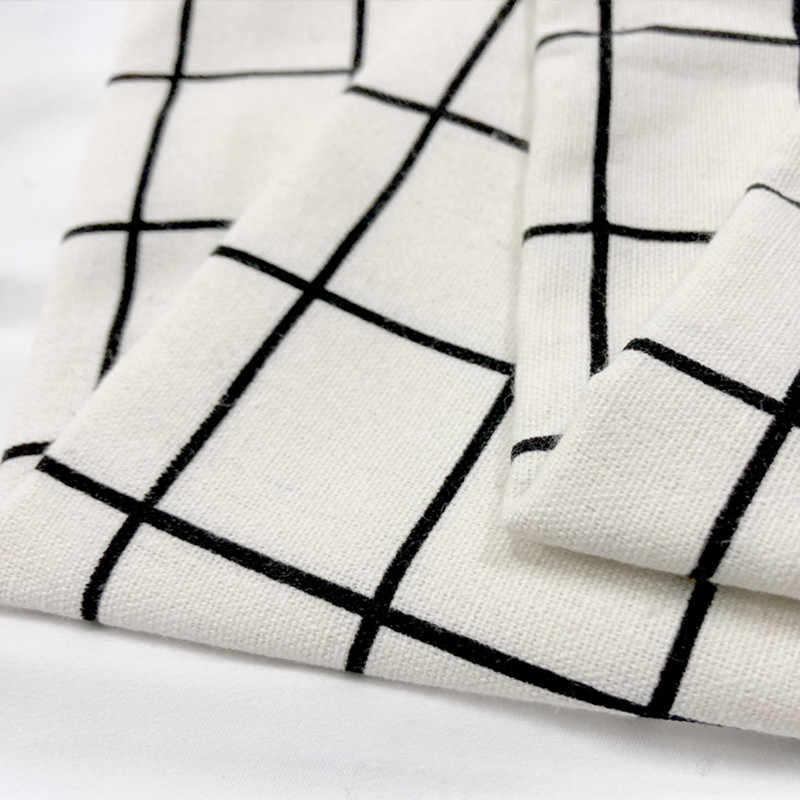 100*150 cm tela de lino de algodón DIY Material de artesanía Impresión de Cactus de floración para bolsas de bricolaje cubierta de Mesa para el hogar