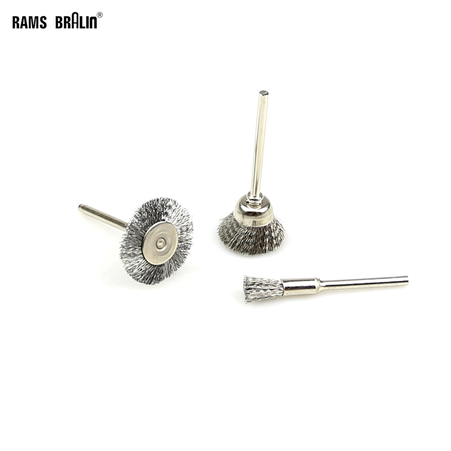100 Pieces Mini Steel Wire Brush
