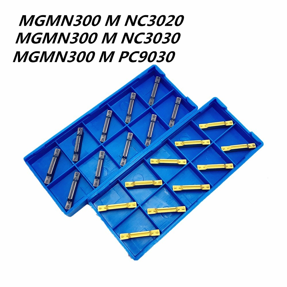 10pcs MGMN300-M NC3020 3mm Wide Grooving Insert Carbide Blade For Steel