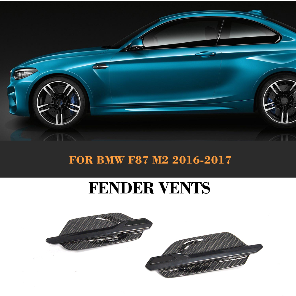 Carbon Fiber Front Air Intake Flow Vents for BMW F87 M2 Base Coupe 2 Door 2016 2017 2PCS Car Styling