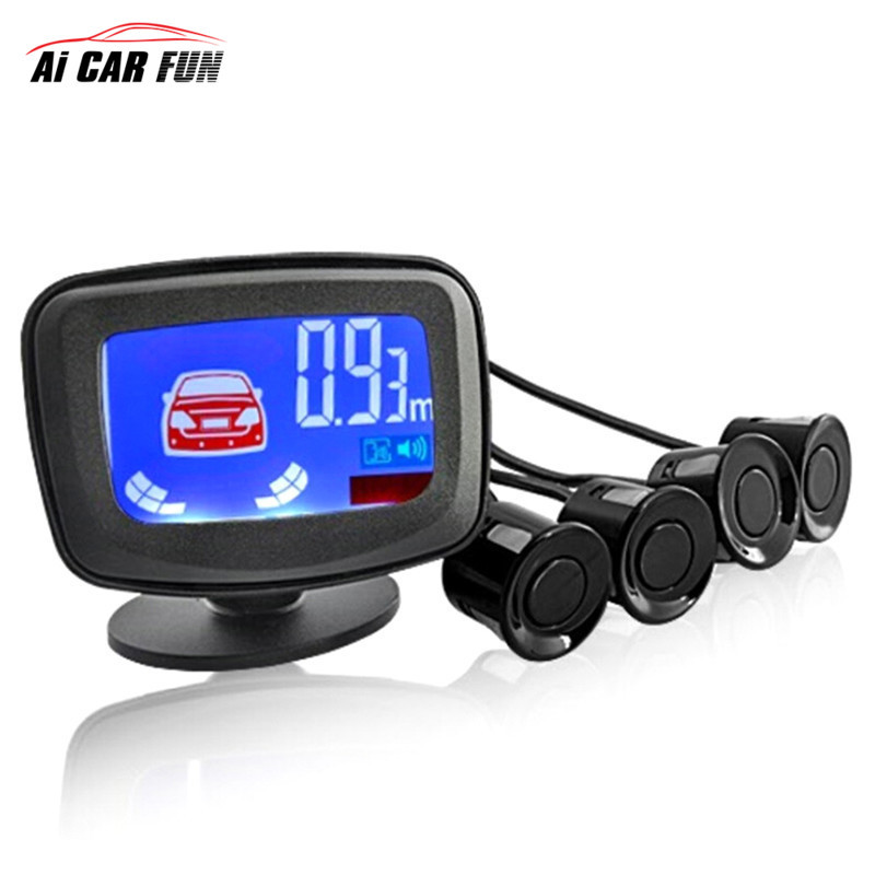 Mini 2.5 Inch Auto Parktronic 4 Car Parking Sensor 8 <font><b>Radar</b></font> <font><b>Detector</b></font> 22mm Reverse Backup rear Monitor System LED Display 2017 New