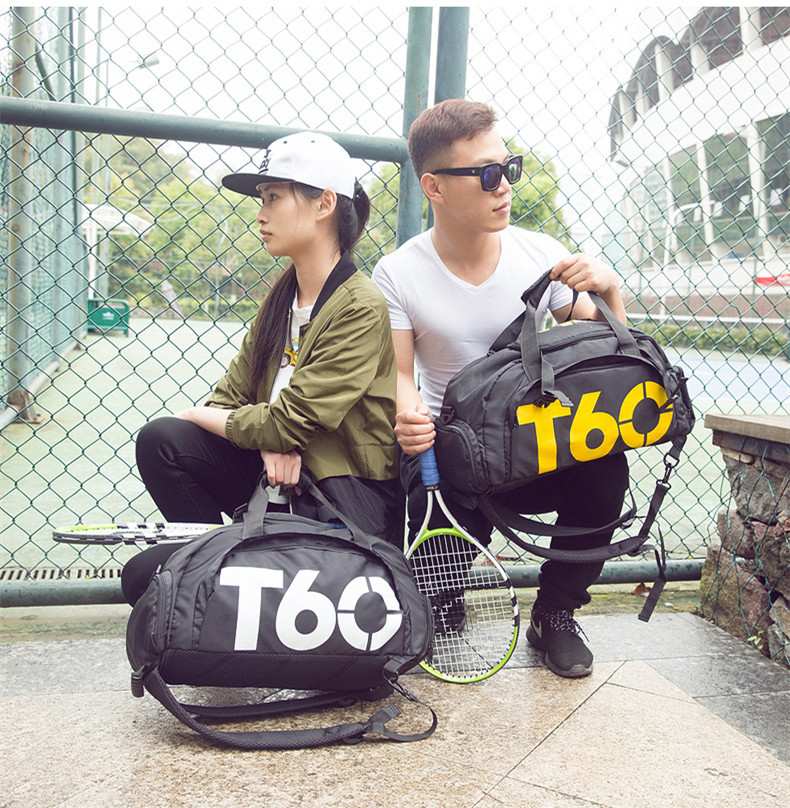 New Men Sport Gym Bag Lady Women Fitness T60 Travel Handbag Outdoor Backpack Separate Space For Shoes sac de sport bolsa deporte5
