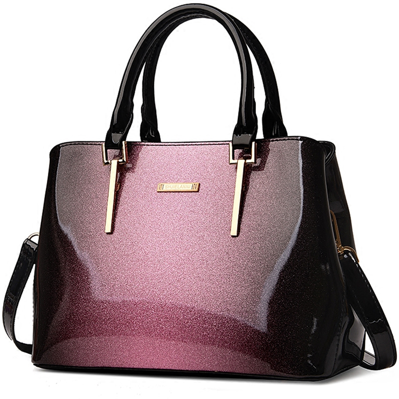 Neue Klassische Luxus Designer Hohe Qualität Patent Leder Helle Oberfläche Top Griff Messenger Taschen Handtaschen Frauen Berühmte Marken Modischer Stil; In