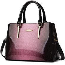 New classic luxury designer high quality patent leather bright surface