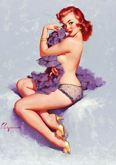 b3a1b0f2e72 100%Handpainted American nostalgia pinup illustrator Canvas Painting master  Gil Elvgren Reproduction