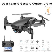 M69S X12 Upgrade Foldable Drone with 720P HD Dual Camera Gesture Control Optical Flow Position Hover RC Quadcopter VS SG700