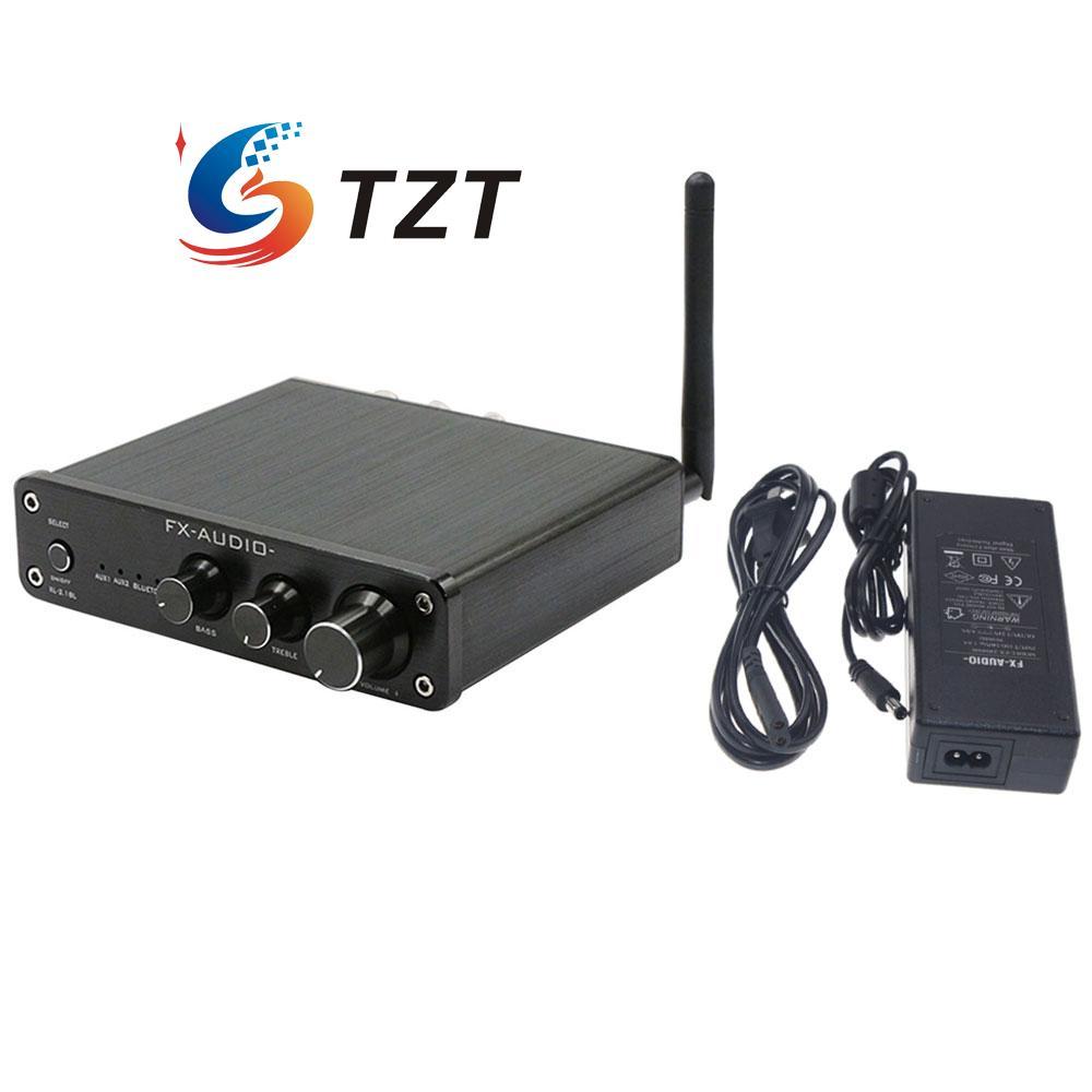 FX XL-2.1BL 2.1 Channel 50W+50W+100W Multimedia Audio Player Bluetooth Digital HIFI Amplifier w/Power Supply-Black/White line5 black and gold a965 100w bluetooth wireless digital power amplifier hifi power amplifier power