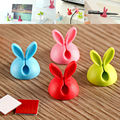 4X Rabbit Cable Drop Clip Desk Tidy Organiser Wire Cord Lead USB Charger Holder