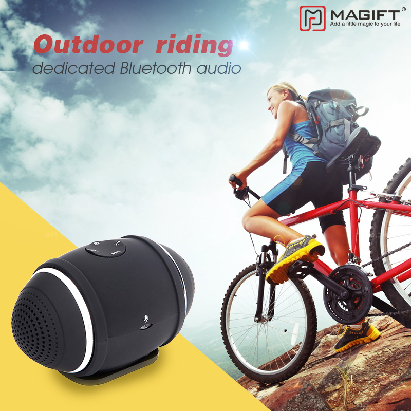 Magift Wireless Mini Bluetooth Bike Speaker with MIcphone Portable Bass Column Outdoor <font><b>Mount</b></font> Speakers Support FM TF RadioCard