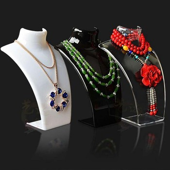 Free Shipping Wholesale 5pcs/lot Both Earring Necklace Display Rack Stand Holder Jewelry