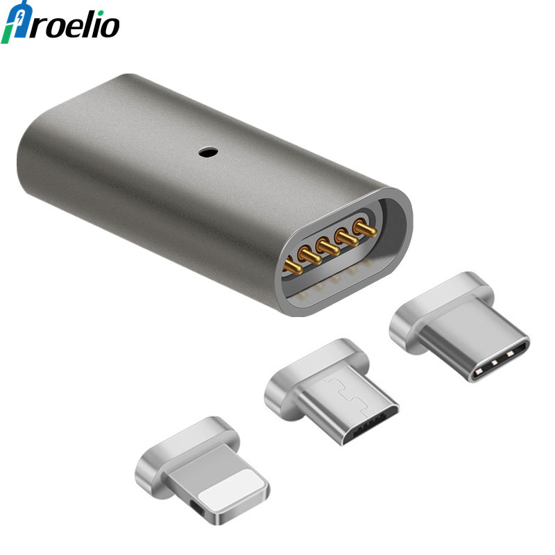 Magnetic OTG Adapter For iPhone Cable Female Micro USB To Type C/For iPhone/Micro Male Adapter Connector Micro USB To USB-C