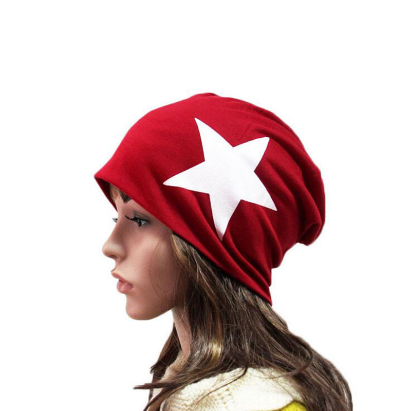 Spring Summer Women Hat Cotton Men Skullies Beanies ,beautiful star print knit baggy skullies cap bonnet,gorros mujer invierno star island summer