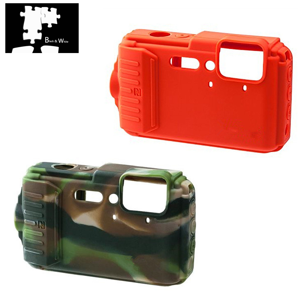 Armadura de silicone pele caso capa do corpo protetor para nikon coolpix aw120 aw130 câmera digital só