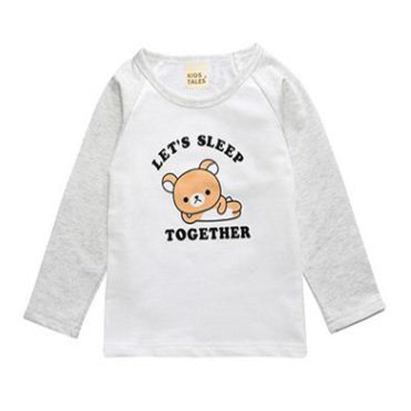 newborn baby boy girl clothes fashion 2017 summer Cartoon Bear Long Sleeve t-shirt Children