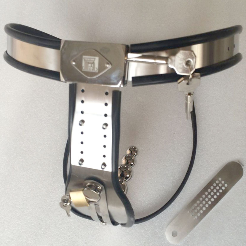 Arc Waist Stainless Steel Female Chastity Belt Panty With -5397
