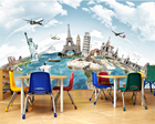 Beibehang Custom Wallpaper Home Decorative Mural Tours around the world Travel Backdrop Living Room Bedroom Mural 3D wallpaper