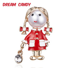 Dream Candy Cute Creative Little Girl Brooches for Women Colorful Enamel Pin Gifts Child Jewelry Dress Accessories New 2019