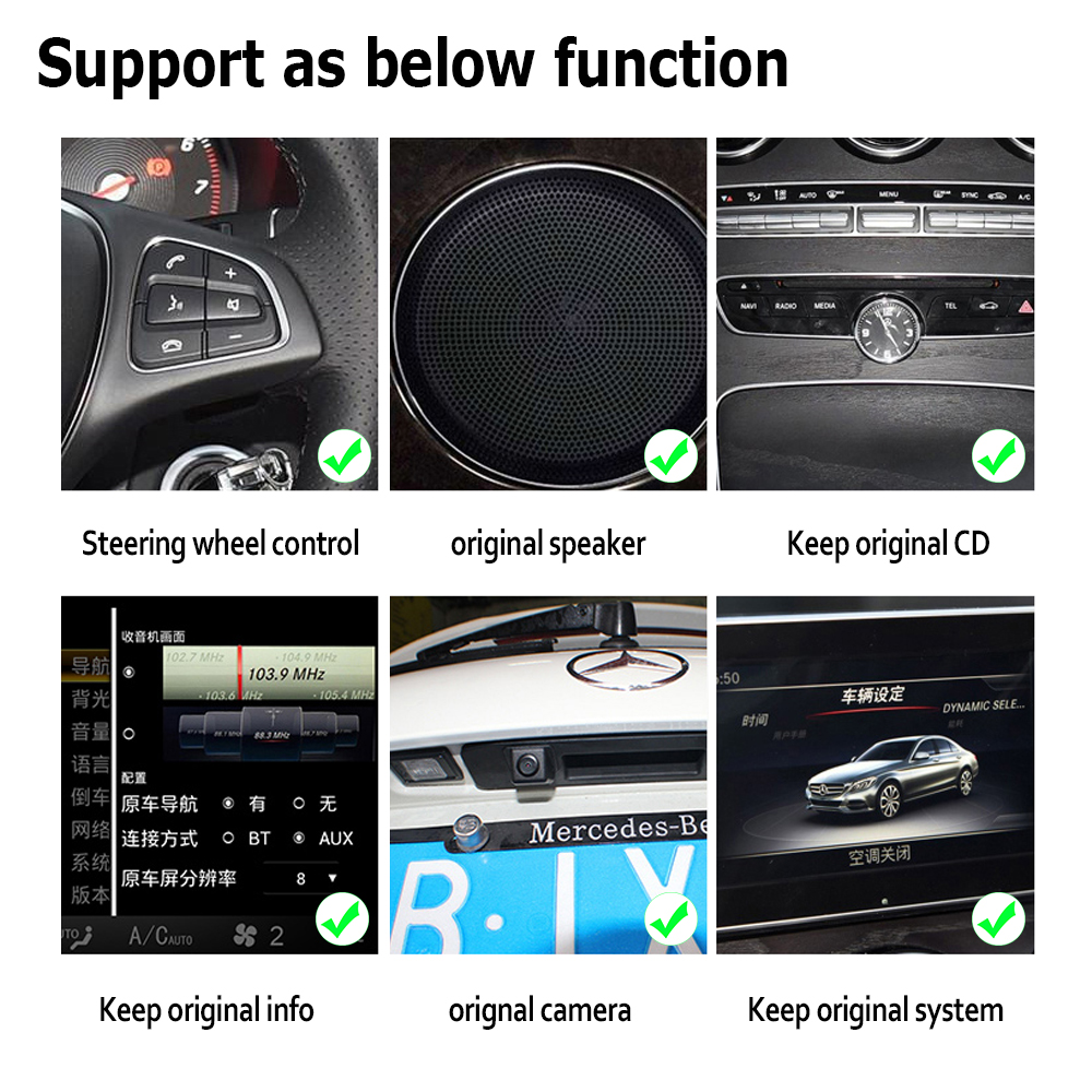 10 25 quot Android Touch Screen Multimedia Player Stereo Display navigation GPS For Mercedes Benz C Class 2015 2019 NTG in Car Multimedia Player from Automobiles amp Motorcycles