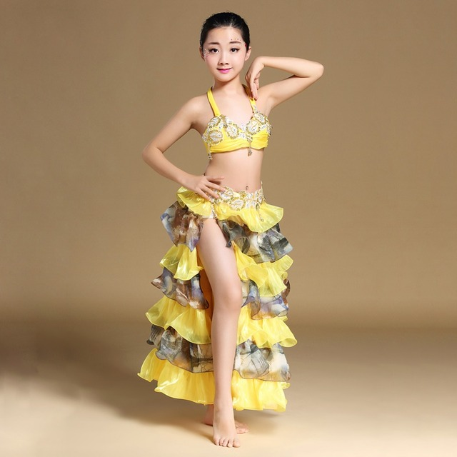 890f9d82245f Kids Children Belly Dance Costume Set New 2018 Girls Stage Performance Belly  Dancing Clothes Oriental Skirts Outfit