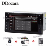 Newest 200 100 Double Din Car DVD Player PC GPS Navigation Stereo For Toyota Multimedia Screen