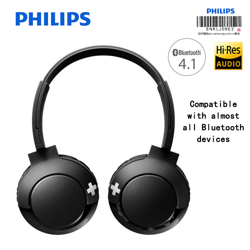 Philips SHB3075 Wireless Headphone Bluetooth connection Volume Control headsets with Microphone Lithium Polymer for Mobilephone